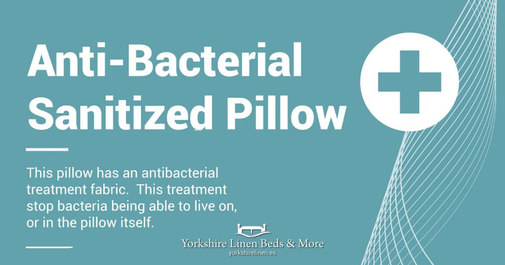 Anti-Bacterial Sanitized Pillow - Yorkshire Linen Beds & More OG02