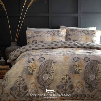 Balay Ochre Duvet Cover Set - Yorkshire Linen Beds & More P01