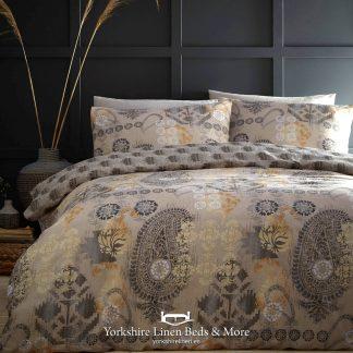 Balay Ochre Duvet Cover Set - Yorkshire Linen Beds & More P01