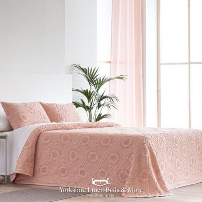 Colleen 100% Cotton Bedspread Rose - Yorkshire Linen Beds & More P01