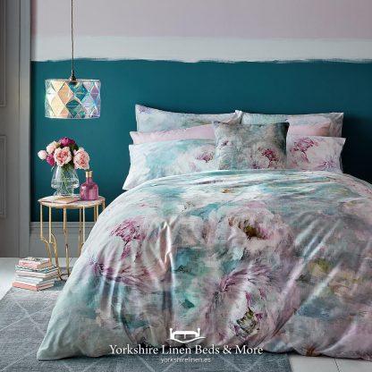 Rosalie 220 Thread 100pc Cotton Sateen Duvet Cover Set - Yorkshire Linen Beds & More P01