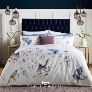 Spring Birds 100% Cotton Duvet Cover Set - Yorkshire Linen Beds & More P01