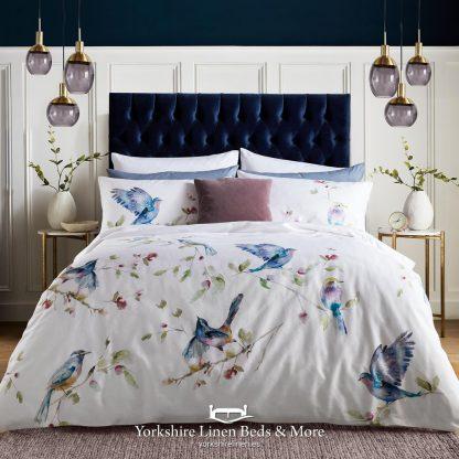 Spring Birds 100% Cotton Duvet Cover Set - Yorkshire Linen Beds & More P01
