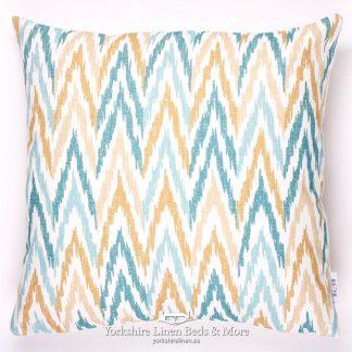 Fish & Fauna Zig Zag Cushions - Yorkshire Linen Beds & More P01