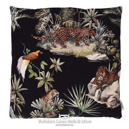 Jungle Cheetah Cushions Ebony - Yorkshire Linen Beds & More P01
