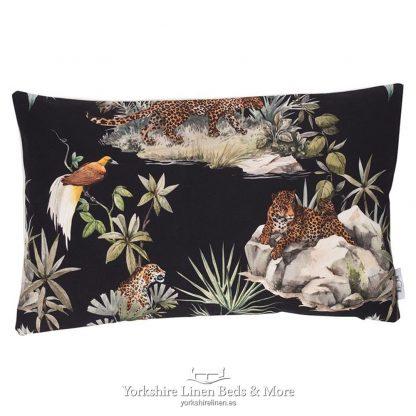 Jungle Cheetah Cushions Ebony - Yorkshire Linen Beds & More P02