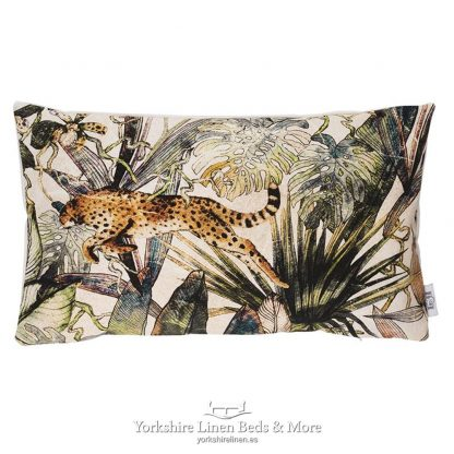 Jungle Cheetah Cushions Natural - Yorkshire Linen Beds & More P02