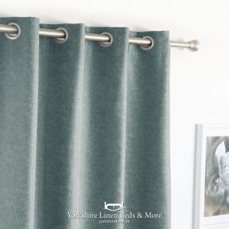 New Bay Semi-Blockout Curtain Panels Duck Egg Blue - Yorkshire Linen Beds & More P01