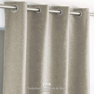 New Bay Semi-Blockout Curtain Panels Linen - Yorkshire Linen Beds & More P01