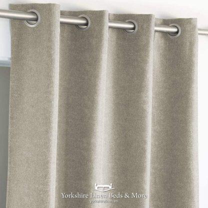 New Bay Semi-Blockout Curtain Panels Linen - Yorkshire Linen Beds & More P01