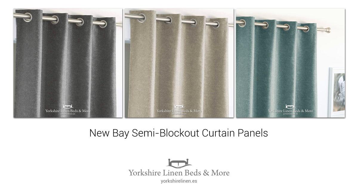 New Bay Semi-Blockout Curtain Panels - Yorkshire Linen Beds & More OG01