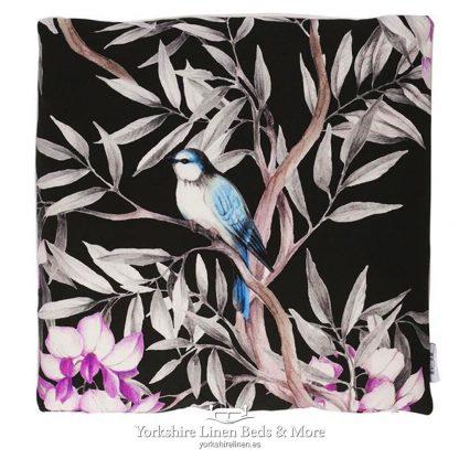 Oriental Birds Cushions Ebony - Yorkshire Linen Beds & More P01