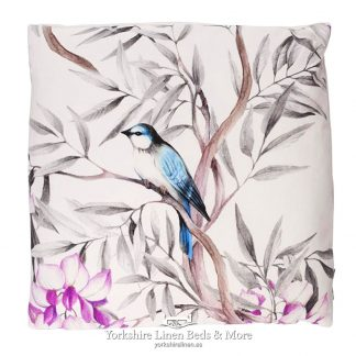 Oriental Birds Cushions White - Yorkshire Linen Beds & More P01