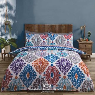 Sara Teal Duvet Cover Set - Yorkshire Linen Beds & More