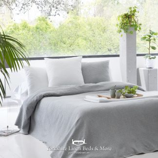 Sicily Multi Use Cotton Throw Silver Yorkshire Linen Beds & More P01