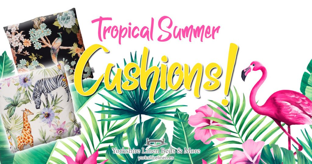 Tropical Summer Cushions - Tropical, Exotic Cushion Style - Yorkshire Linen Beds & More OG01