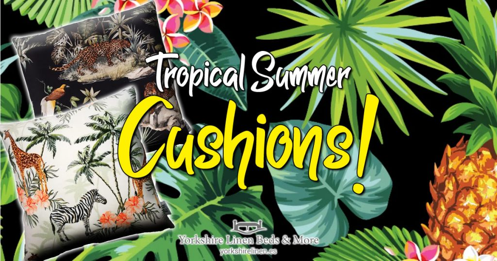 Tropical Summer Cushions - Tropical, Exotic Cushion Style - Yorkshire Linen Beds & More OG04