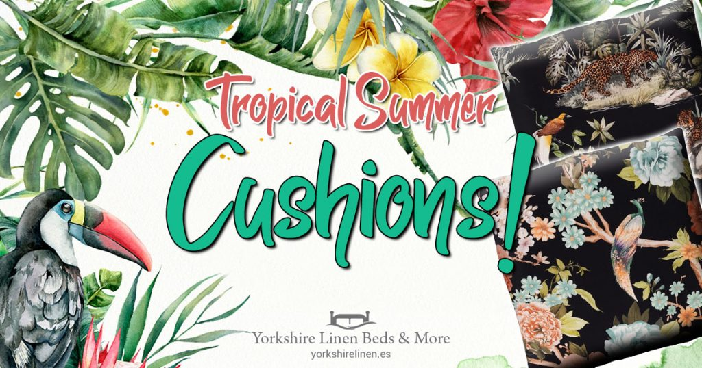 Tropical Summer Cushions - Tropical, Exotic Cushion Style - Yorkshire Linen Beds & More OG05