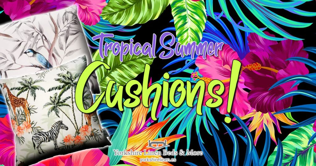 Tropical Summer Cushions - Tropical, Exotic Cushion Style - Yorkshire Linen Beds & More OG06