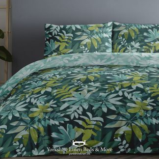 Amaya Teal Duvet Set 100pc Cotton Promo Bedding & Bed Linen from Yorkshire Linen Beds & More P01