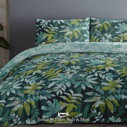 Amaya Teal Duvet Set 100pc Cotton Promo Bedding & Bed Linen from Yorkshire Linen Beds & More P01