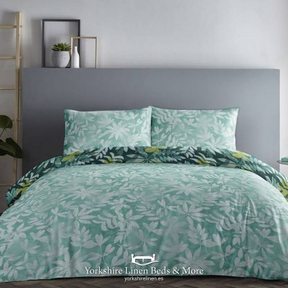 Amaya Teal Duvet Set 100pc Cotton Promo Bedding & Bed Linen from Yorkshire Linen Beds & More P02