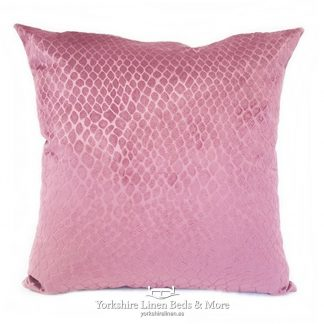 Crocodile Velvet Cushions Blush Pink Yorkshire Linen Beds & More P01