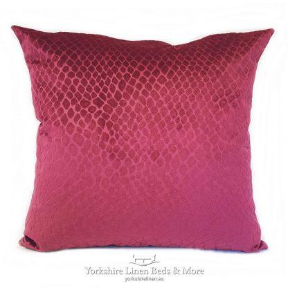Crocodile Velvet Cushions Cassis Yorkshire Linen Beds & More P01