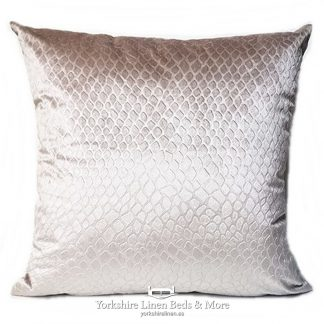 Crocodile Velvet Cushions Natural Yorkshire Linen Beds & More P01