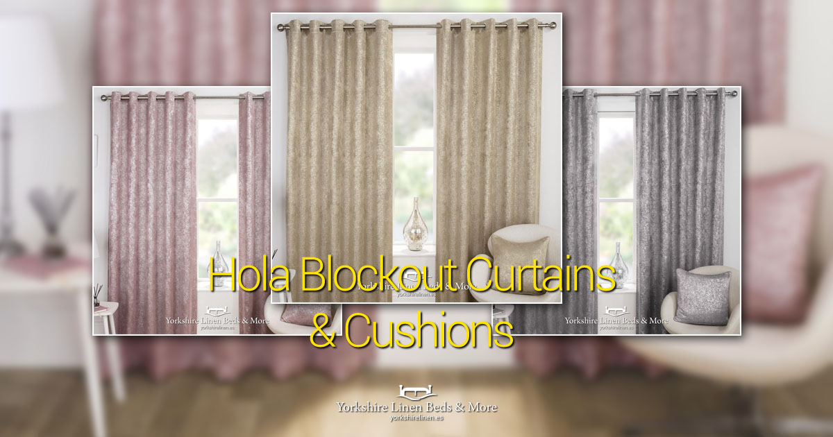 Hola Blockout Curtains and Cushions Yorkshire Linen Beds & More OG01