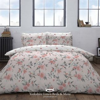Kara Blush Duvet Set 100% Cotton Promo Yorkshire Linen Beds & More P01