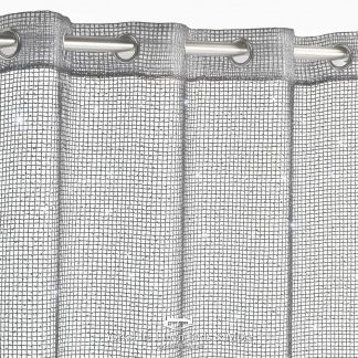 Sparkle Chain Ring Top Voile Panel Charcoal - Yorkshire Linen Beds & More P01