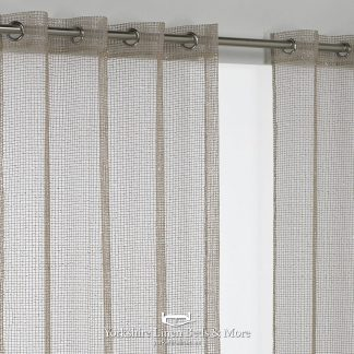 Sparkle Chain Ring Top Voile Panel Gold Curtains & Voiles from Yorkshire Linen Beds & More P01