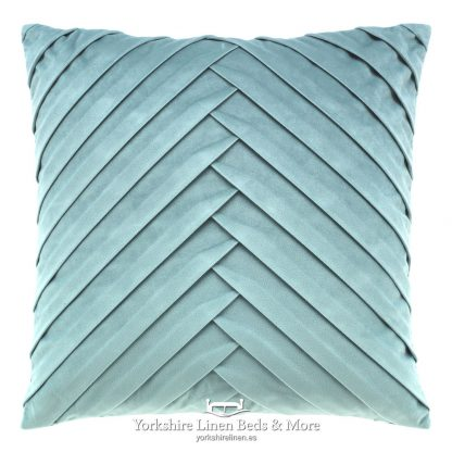 Vintage Pleats Square Cushion Mint Yorkshire Linen Beds & More P01