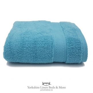 550gsm Wonder Dry 100pc Cotton Towels Aqua - Yorkshire Linen Beds & More P01
