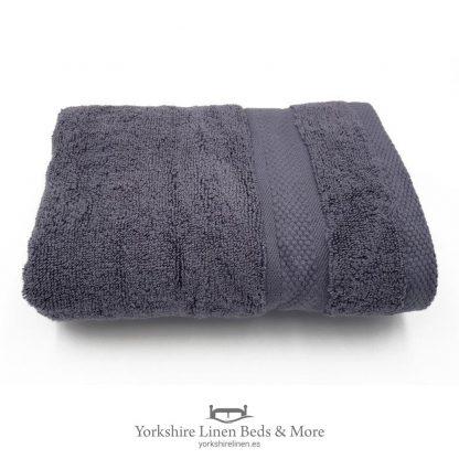550gsm Wonder Dry 100pc Cotton Towels Charcoal - Yorkshire Linen Beds & More P01