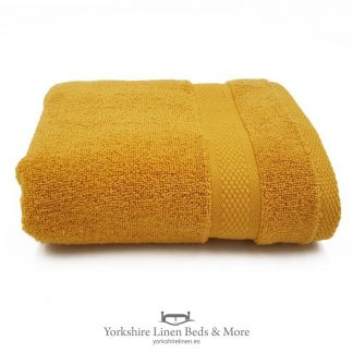 550gsm Wonder Dry 100pc Cotton Towels Ochre - Yorkshire Linen Beds & More P01
