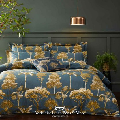 Arbol 100% Cotton Duvet Cover Set Teal - Yorkshire Linen Beds & More P01