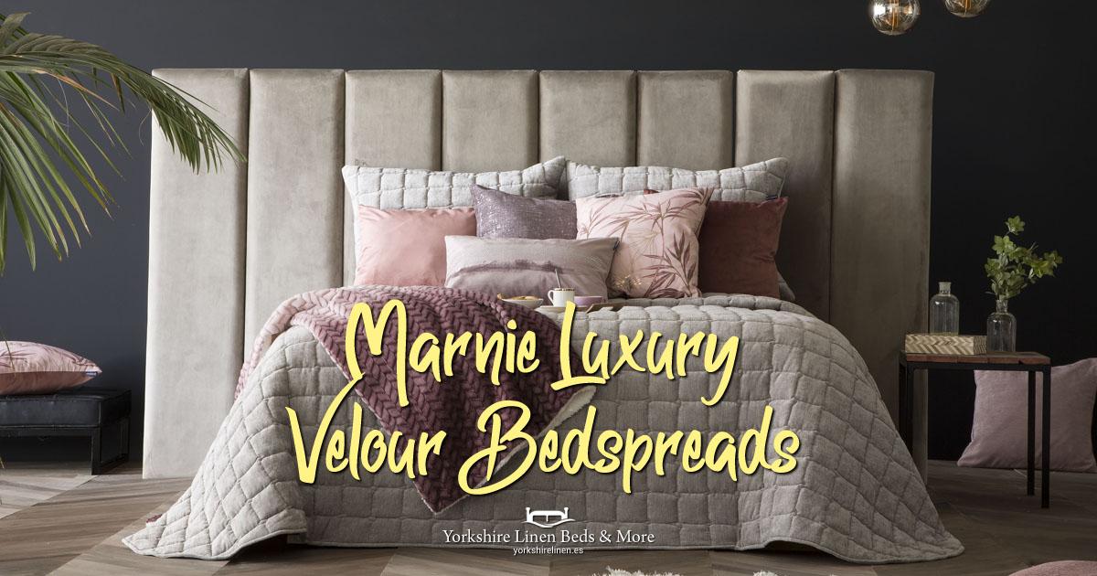 Marnie Luxury Velour Bedspreads Yorkshire Linen Beds & More OG01