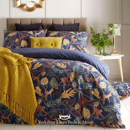 Midnight Monkey Duvet Cover Set - Yorkshire Linen Beds & More P01