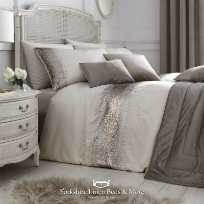 Monroe Oyster Duvet Cover Set by Caprice - Yorkshire Linen Beds & More P01