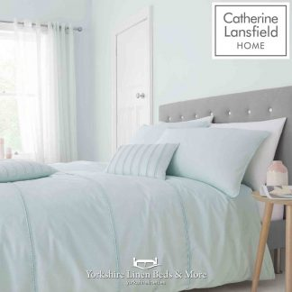Pom-Pom Mint Duvet Cover Set - Yorkshire Linen Beds & More P01