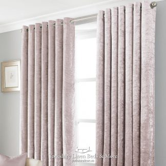 Promo Black Out Velvet Curtains Blush Pink - Yorkshire Linen Beds & More P01