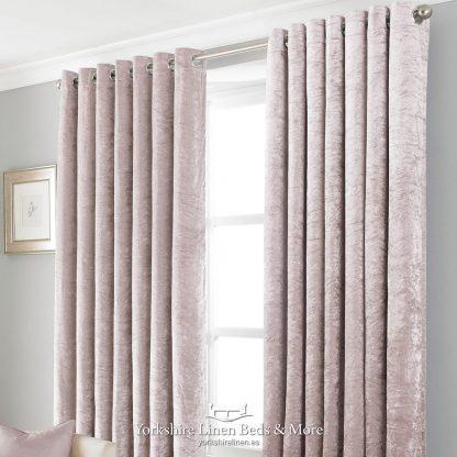 Promo Black Out Velvet Curtains Blush Pink - Yorkshire Linen Beds & More P01