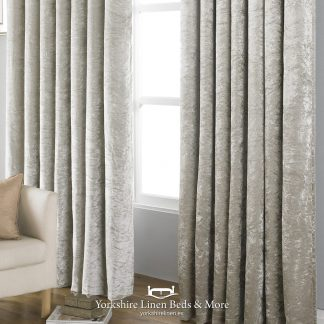 Promo Velvet Black Out Curtains Ivory - Yorkshire Linen Beds & More P01