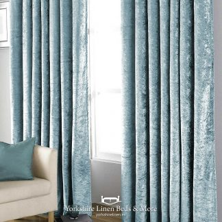 Promo Velvet Black Out Curtains Teal - Yorkshire Linen Beds & More P01