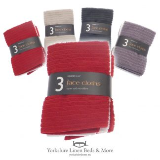Assorted Face Cloths 3 Pack - Yorkshire Linen Beds & More P01