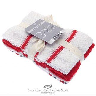 Cotton Tea Towels 3 Pack - Yorkshire Linen Beds & More