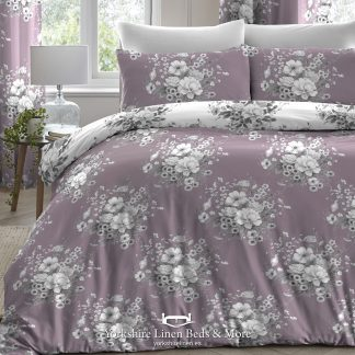 Mirabel Duvet Cover Heather - Yorkshire Linen Beds & More P01