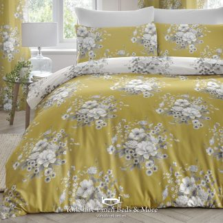 Mirabel Ochre Duvet Cover - Yorkshire Linen Beds & More P01
